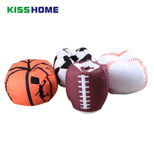 Basketball Baseball Football Soccer Storage Stuffed Animal Canvas Storage Bean Bag Portable Kids Large Capicity Clothes Toy Bags