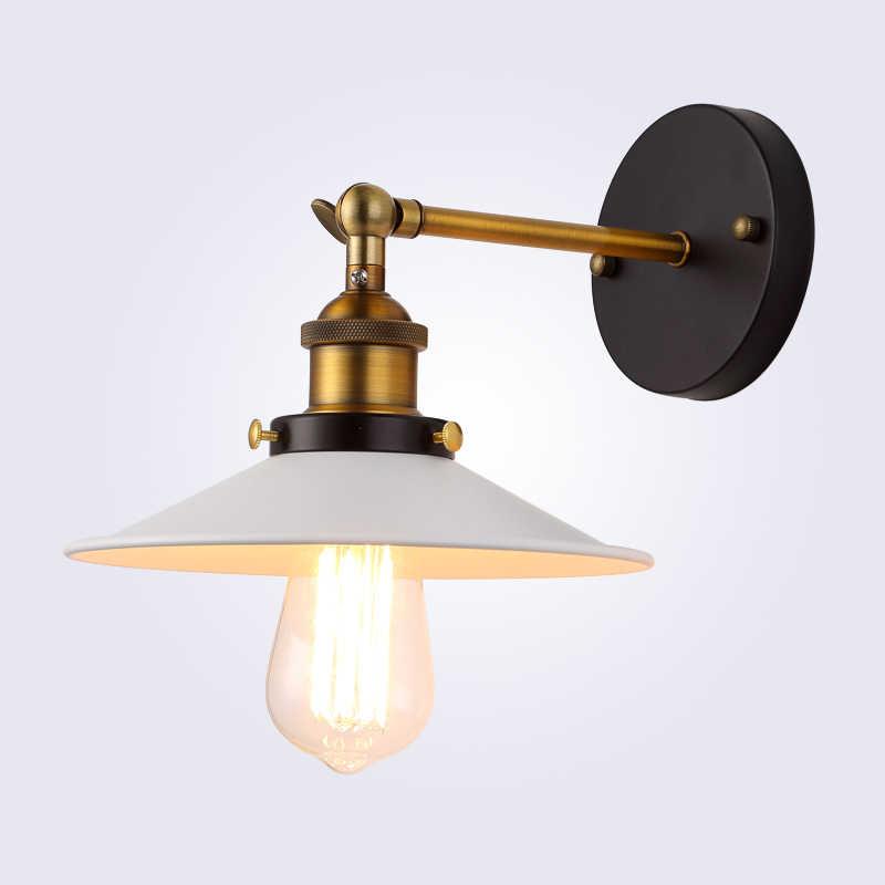 Американский винтажный настенный светильник внутреннего освещения прикроватные лампы Настенные светильники-бра для дома диаметр 22 см 110 V/220 V E27