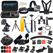 SANGER for Gopro Accessories Set Kit 37 In1 for Xiaomi Yi Action Camera Go pro Hero 5 4 3+ 3 Sjcam Bag Monopod Head Chest Strap