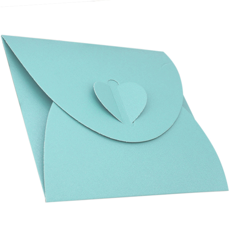 50Pcs Kraft Paper Envelope Bag Peach Heart Single Piece Loaded Western Style Retro Style Package