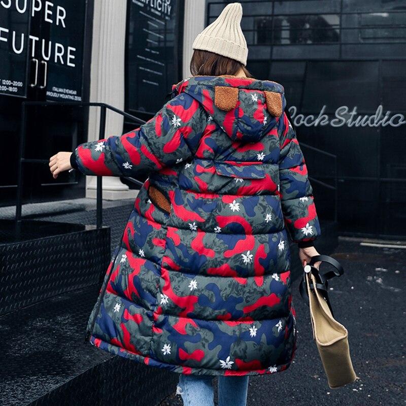 Pour Taille Lxt659 Camouflage Femme D'hiver Camouflage army 2018 pink Épaissir Femmes Camouflage Outwear orange Camouflage Camouflage blue red Chaud Dames Veste Green La Longue Nouvelle Green Parkas Manteau Plus black Manteaux Camouflage FqUqPa7