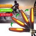 Течет мотоцикл указатели поворота Мерцающие светодиодные янтарные лампы Indcator для triumph street triple kawasaki versys 650 gsx-s1000