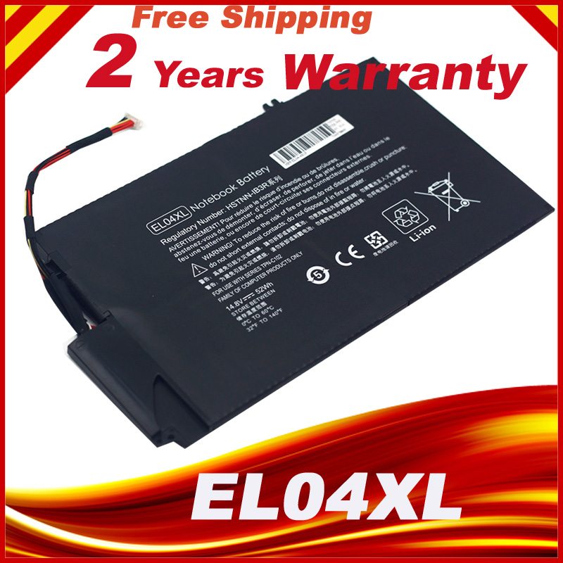 Battery For HP ENVY TouchSmart 4 EL04XL TPN-C102 HSTNN-IB3R HSTNN-UB3R jigu laptop battery eg04 eg04xl ego4xl hstnn db3t hstnn ib3t tpn c103 tpn c108 for hp envy 6 series envy sleekbook 6