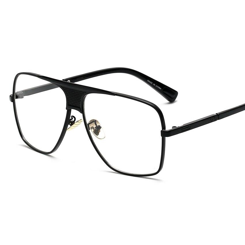 Aliexpress.com : Buy Peekaboo Flat top men glasses frame branded ...