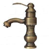 Antique Brass Single Lever Handle Bathroom Faucet Vessel Sink Basin Mixer Taps Anf086