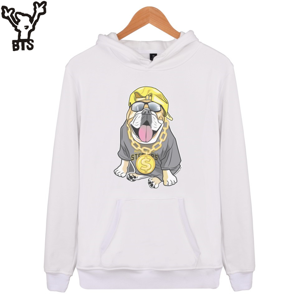 BTS Fenway Forever Mens Hoodies And Sweatshirts Hip Hop Cartoon Printed Fashion Hooded Sweatshirt Men Dog Funny Pullovers 4XL