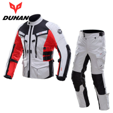 DUHAN Men Motobike Motorcycle Jacket Pants Sets Waterproof Motocross Racing Suits Road Riding Raincoat Clothing