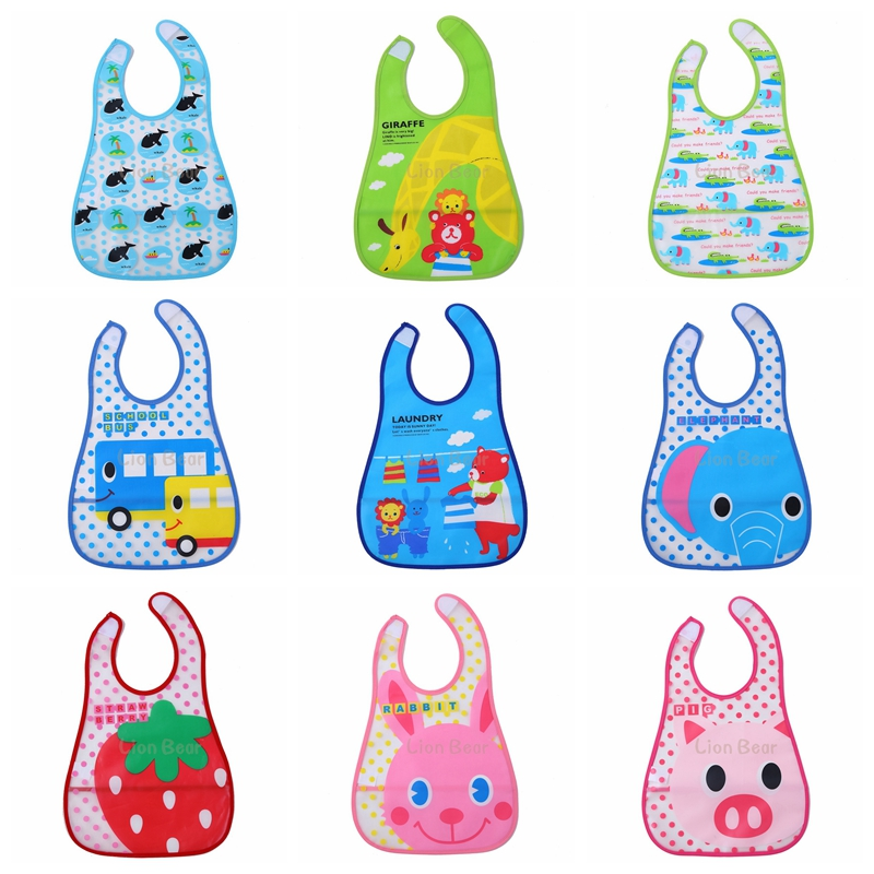 Baby Bibs Waterproof Babador Cute Cartoon Baby Feeding Fashion Bandana Baby Bibs Babet for Lunch bavoir bebe