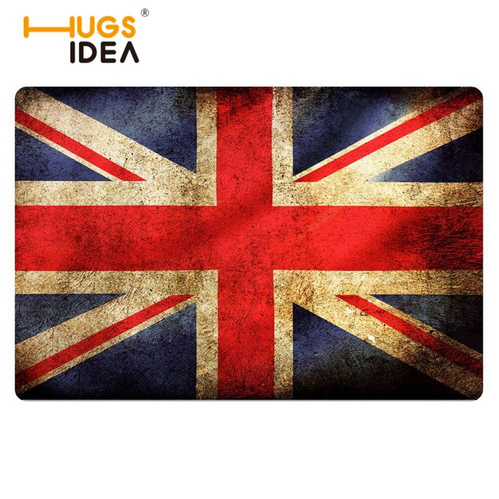 Rubber backed floor mats uk - 2016 Spring Non Slip Doormat Entrance Floor Mats National Flag Usa Uk Thine Bath