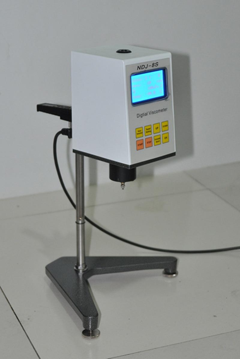 Digital Rotary Viscometer NDJ-8S Viscosimeter 1-2000000 mPa.s Measure Absolute Viscosity of Newtonian Liquid digital viscometer ndj 1 viscometer paint viscosity tester rotary viscometer pointer viscometer