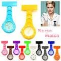 Multi-Color Мода Силиконовой Медсестра Часы Карманные Часы с Брошь Медсестер Смотреть Подарков горячая Бесплатная доставка