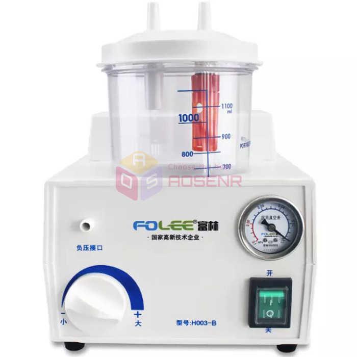 Unité d'aspiration de flegme de vide médical de secours dentaire portative de 220 V FDA électrique