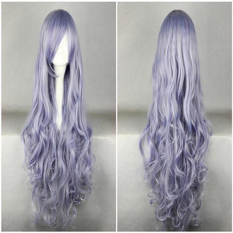 Beautiful Long Curly Wavy Heat Resistant Soft Rozen Maiden Cosplay Wig Purple