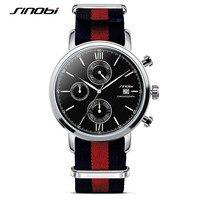 Luxury Brand SINOBI Men Quartz Watches Waterproof Casual Quartz Watch Wrist Watches For Man Sport Relojes