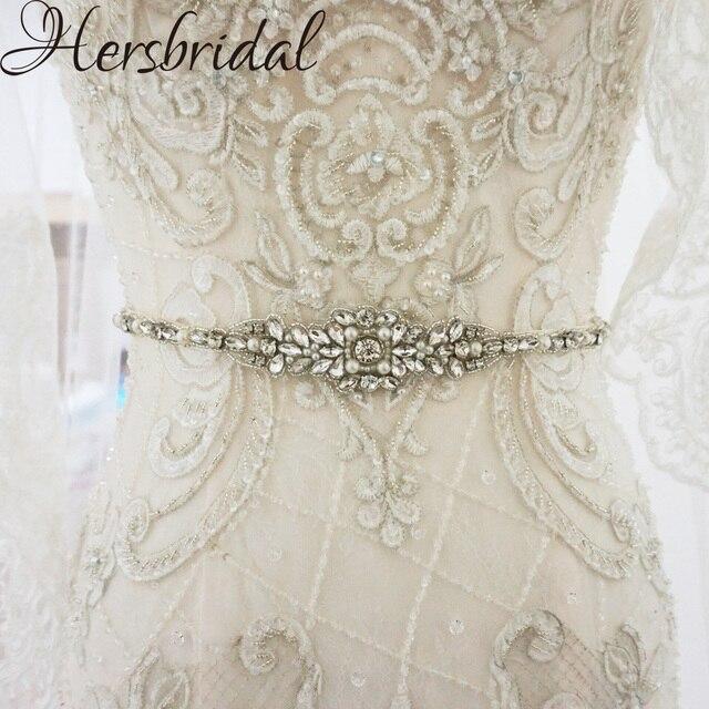 Жемчуг и стразы свадебные пояса серебро пояса свадебное платье с поясом