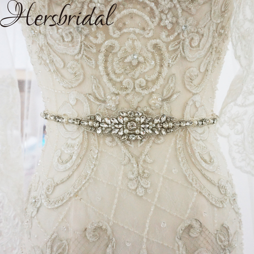Wedding Gown Belts And Sashes: Aliexpress.com : Buy Pearls And Rhinestone Bridal Belt