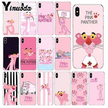 Yinuoda Pink Panther Transparent Soft Shell Phone Cover for Apple iPhone 8 7 6 6S Plus X XS MAX 5 5S SE XR Mobile Cases yinuoda animals dogs dachshund soft tpu phone case for apple iphone 8 7 6 6s plus x xs max 5 5s se xr mobile cover
