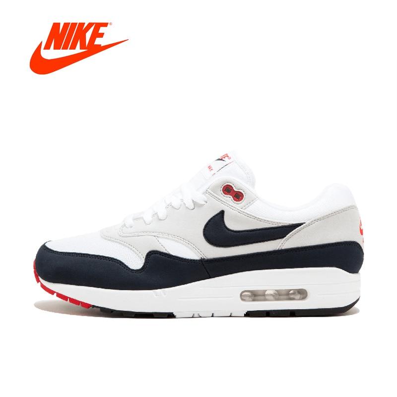 Original Nouvelle Arrivée Authentique Nike AIR MAX 1 ANNIVERSAIRE Chaussures de Course Pour Hommes Bonne Qualité Baskets Sport Extérieur 908375-104