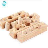 Logwood russe entrepôt en bois jouets Montessori éducatif cylindre douille blocs jouet bébé développement pratique et sens