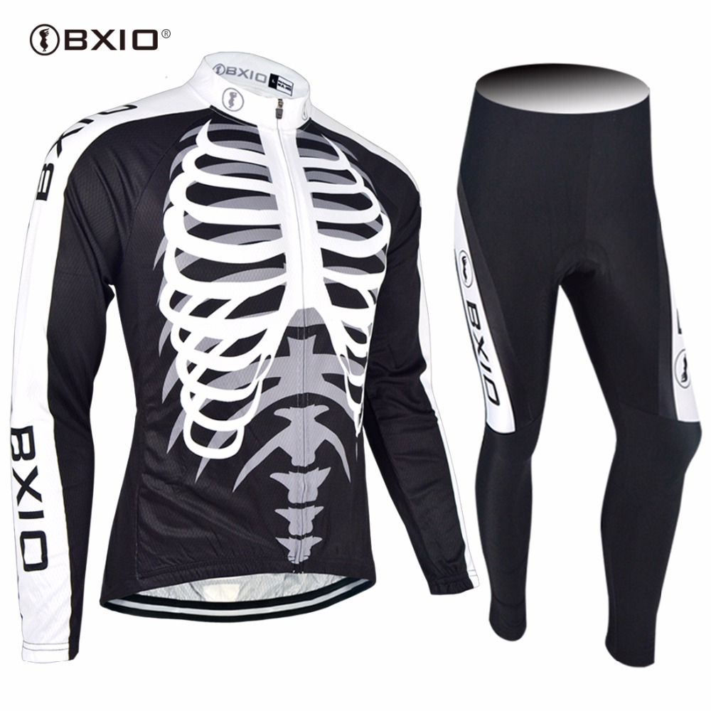 2017 New Arrival Bxio Cycling Set Long Sleeve MTB Bicycle Clothing Autumn Pro Team Bike Jersey