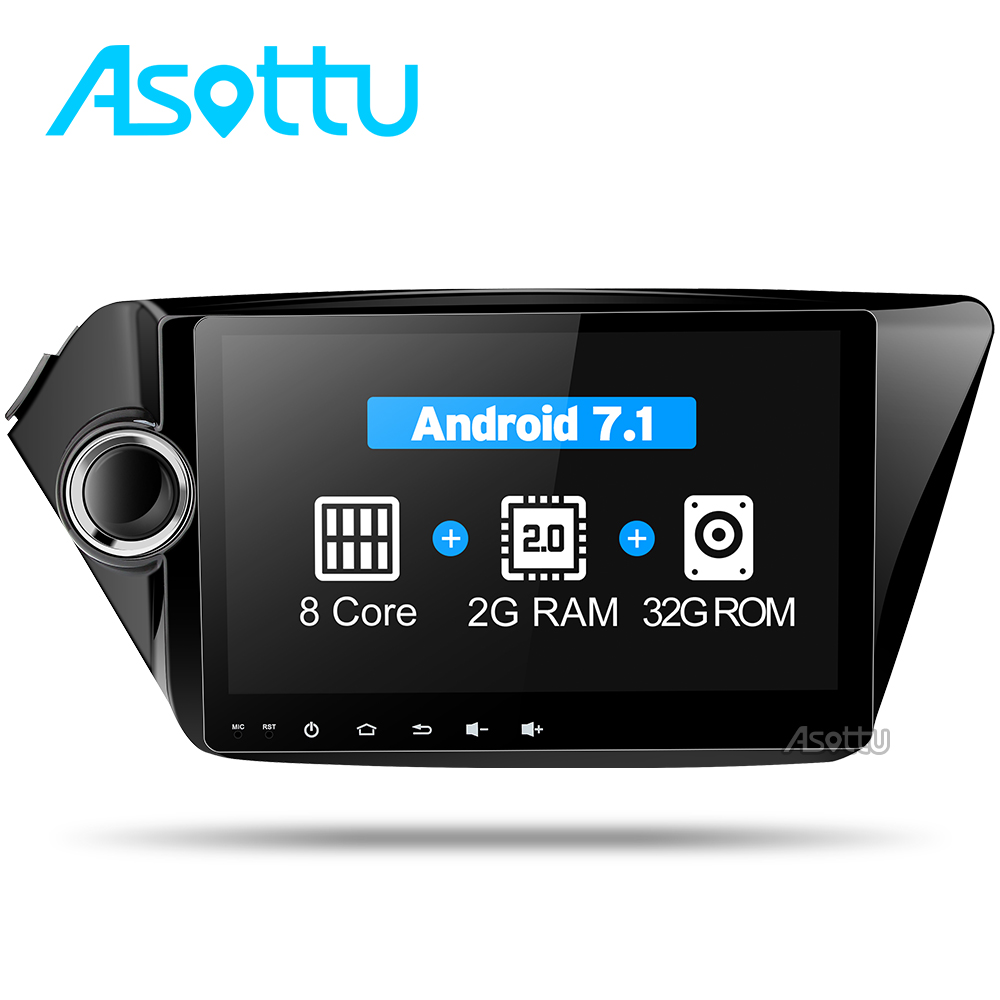 Asottu android 7.1 dvd-плеер автомобиля gps-навигация 2 din стерео 9 дюймов 1024*600 для Kia k2 РИО 2010 2011 2012 2013 2014 2015