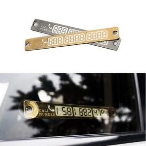 Image 1 - 1 Pc Lichtgevende Telefoonnummer Kennisgeving Auto Tijdelijke Parkeerkaart Sukkels Night Auto Sticker Interieur Auto Producten Accessoires