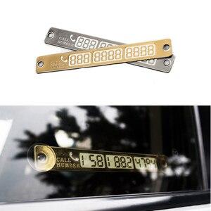 Image 1 - 1 adet aydınlık telefon numarası bildirimi araba geçici park kartı Suckers gece araba Sticker İç otomatik ürünleri aksesuarları