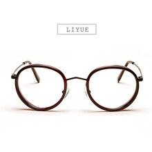 LIYUE Brand eyeglasses women Eye glasses men girl's glasses frames eyewear Metal Round spectacles Prescription eyewear Glasses