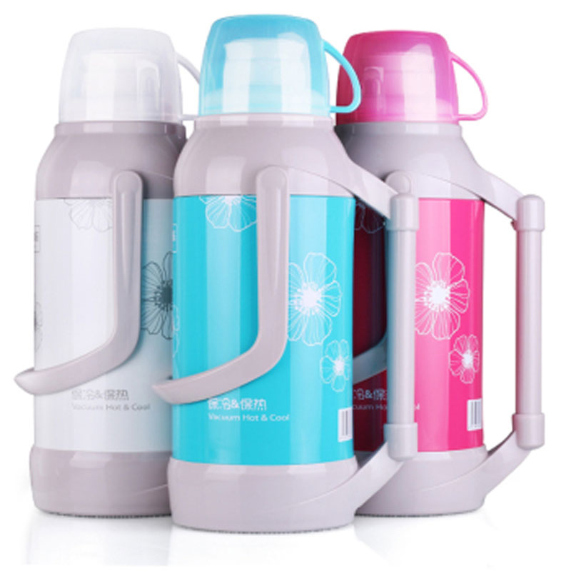 2/3.2L Glass Linner Thermos Large Capacity Ice Tea Kettle Insulation Flask Waterpot Thermos Teapot With Lid Cup Vacuum Flasks