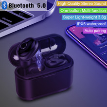 True Wireless Bluetooth 5.0 Earbuds Earphone TWS Stereo Auriculares Bluetooth Inalambrico Built-in Mic Waterproof(China)
