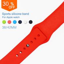 hot deal buy uebn sports silicone band for apple watch series 3 / 2 replace bracelet strap watchband watchstrap for apple watch 42mm 38mm