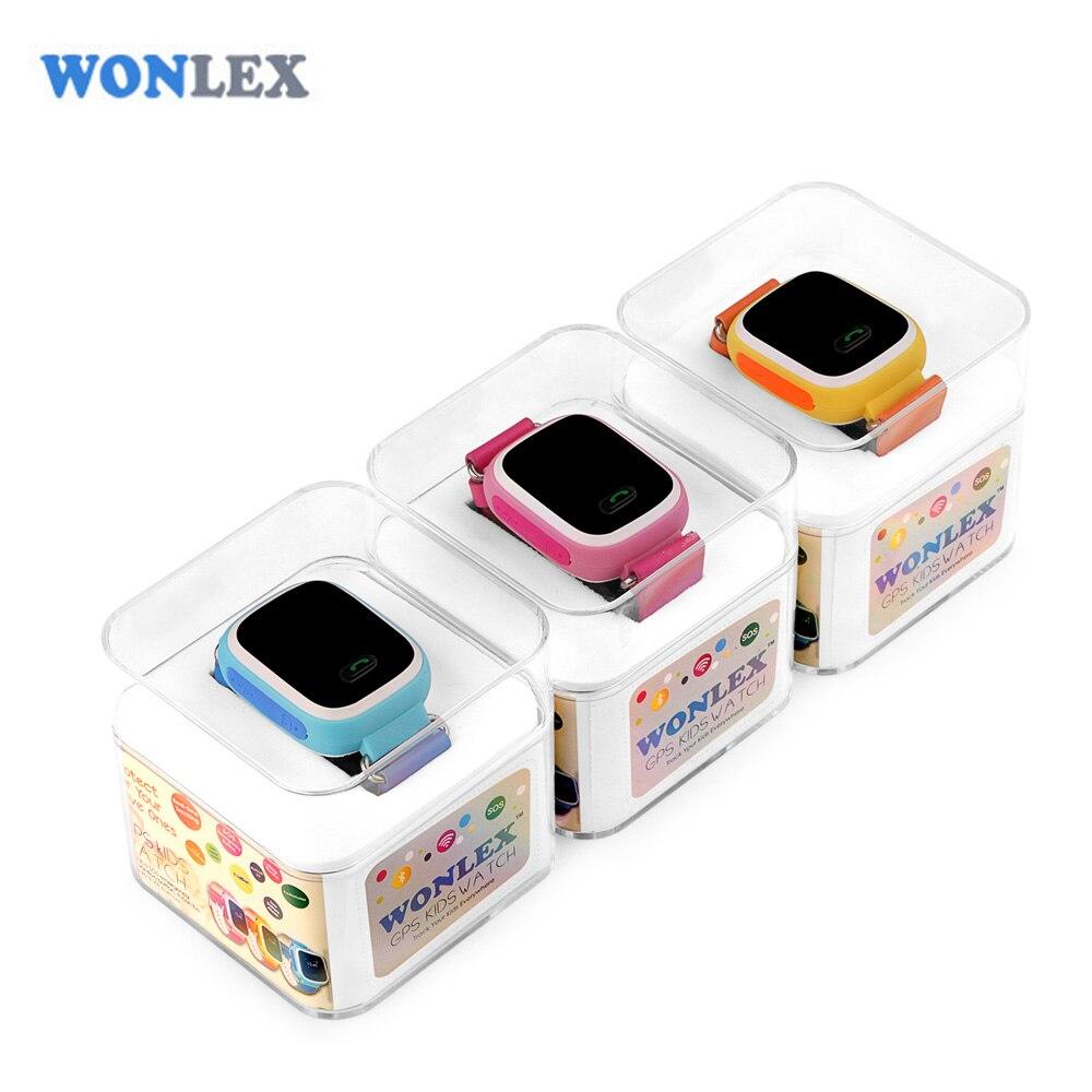 Wonlex 2016 Цвет Экран смарт-Сейф дети GPS часы наручные часы sos трекер для малыша детский Anti потерянный Мониторы