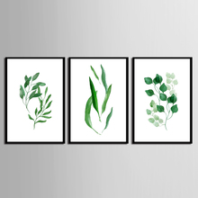 цена 3 Pc Green Plants Leaves Canvas Paintings Nordic Scandinavian Office Wall Art Poster Picture for Living Room (No Framed) онлайн в 2017 году