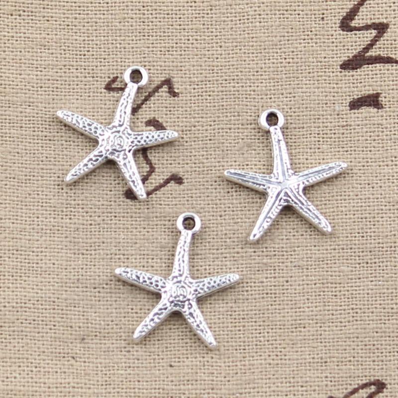 10pcs Charms Starfish 20x18mm Antique Making Pendant Fit,Vintage Tibetan Silver,DIY Bracelet Necklace