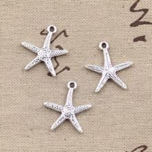 99Cents 8pcs Charms starfish 20*18mm Antique Making pendant fit,Vintage Tibetan Silver,DIY bracelet necklace
