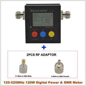 Image 2 - SureCom SW 102 Digital Power Tester SWR Meter  Frequency Counter & 2 RF Adapter Cover 125MHz~520MHz for Ham Transceiver Scanner