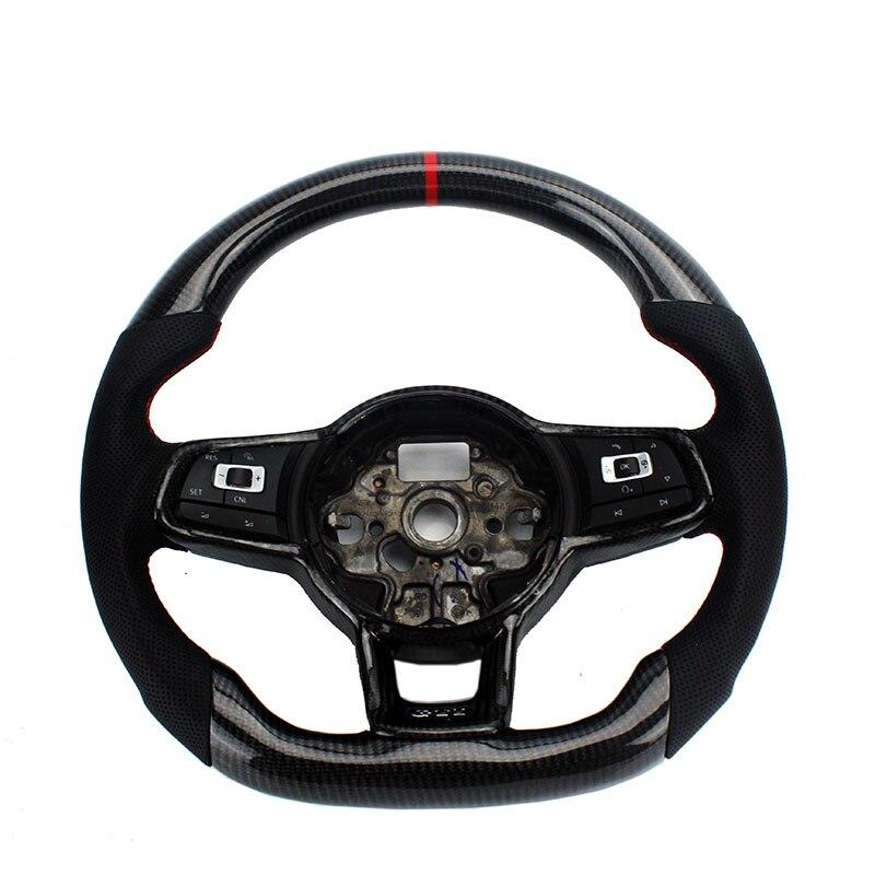 Remplacement En Fiber De carbone Volant Pour FIT VW Golf 7 GTI Golf R MK7 Jetta Passat Polo GTI Scirocco 2014 -2018