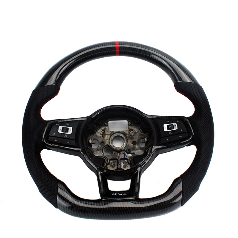 Ruota di Sterzo in Fibra di carbonio di Ricambio Per FIT VW Golf 7 GTI Golf R MK7 Jetta Passat Polo GTI Scirocco 2014 -2018