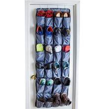 Over the Door Shoe Organizer 24 Large Pockets Hanging Shoe Organizer with Steel Hooks(China)