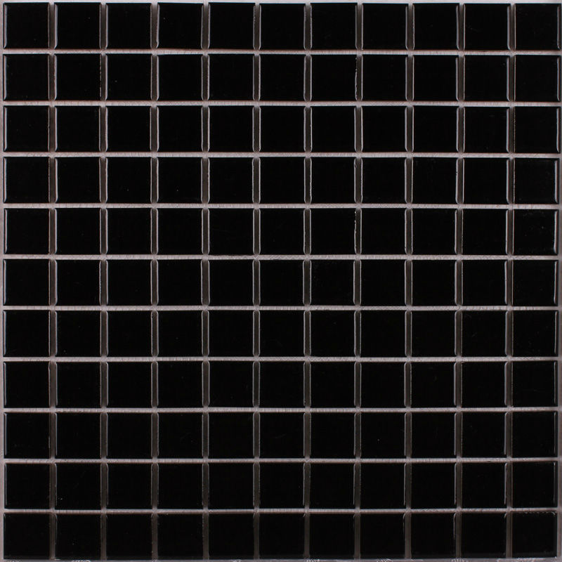 Porcelain Mosaic Tile Black Glazed Ceramic Tiles Kitchen Backsplash Tiles Shower Wall Stickers