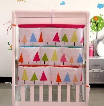 Promotion! Cartoon 62*52cm Baby Storage Bag in Nursery decor Baby Crib Hanging Bag Baby Clothes Storage,Baby Bedding Set