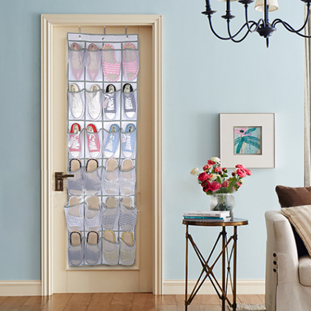 24 Pocket Hanging Shoe Organizers for Door and Wall Bag for Assemble the Shoes in Provided Hooks 1