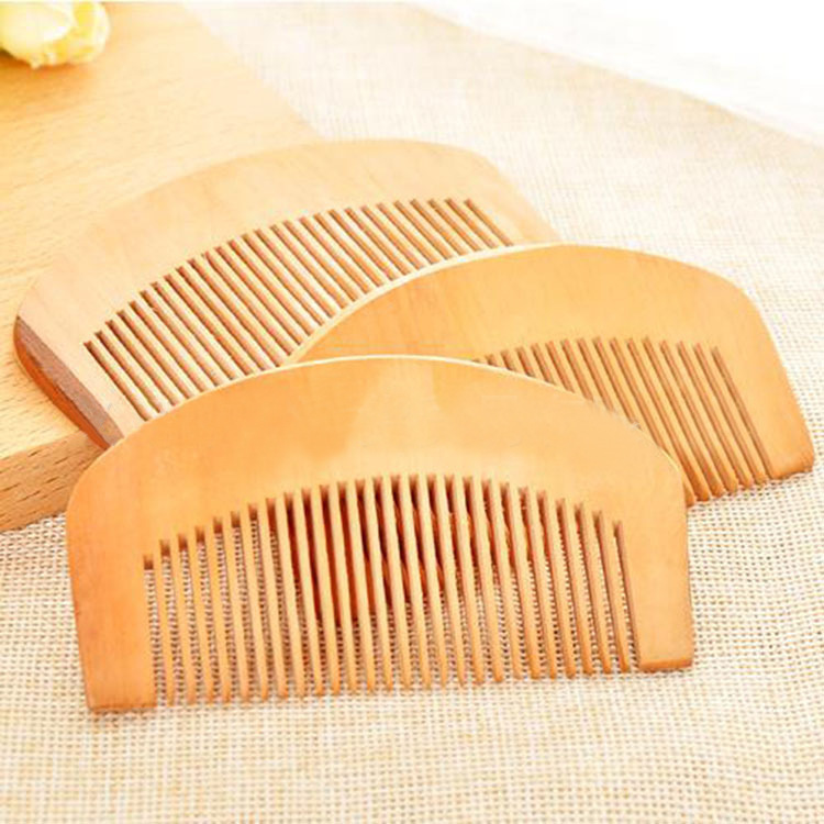 C61 Boutique peach wood comb anti-static hair loss hair comb hair comb c62 anti static peach wood comb sandalwood wide tooth comb hair comb