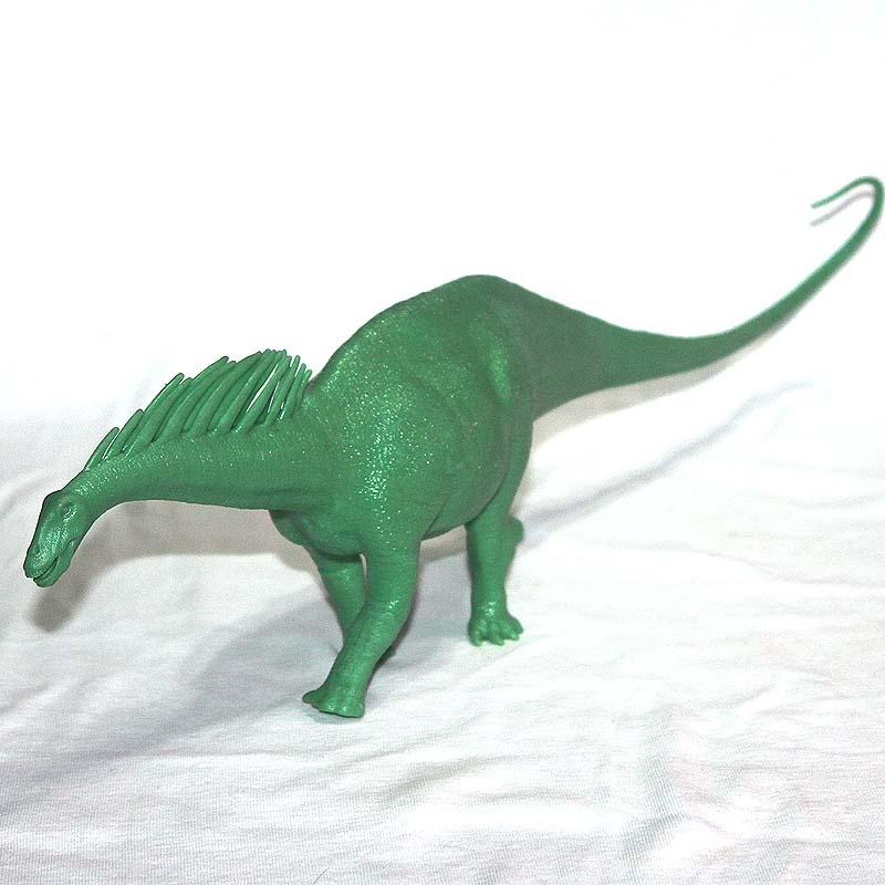 Figurine pvc modèle jouet Amagaron dinosaure blanc moule