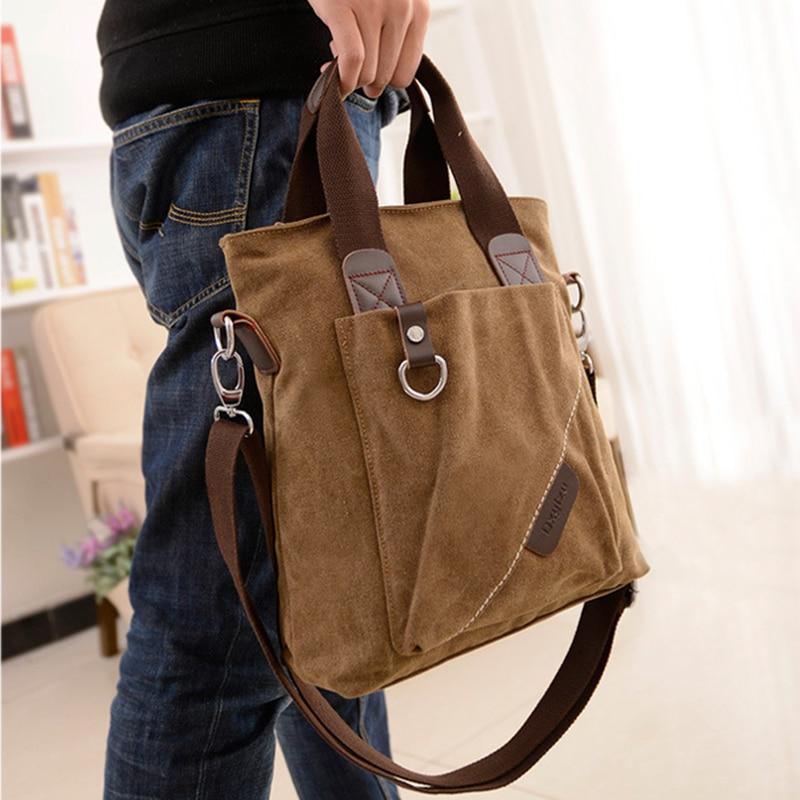Plátno Aktovka Multifunkční Jedno rameno Ramena Crossbody tašky - Aktovky - Fotografie 6