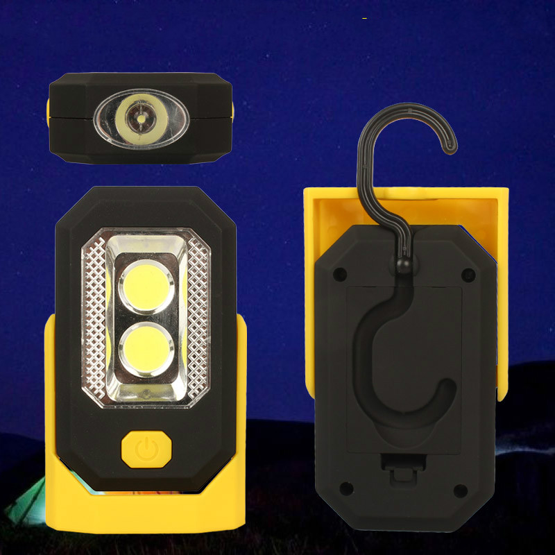 Multi-function Strong Magnetic Magnet Work with Batteries Tents Lamp Camping Light COB + LED Flashlight