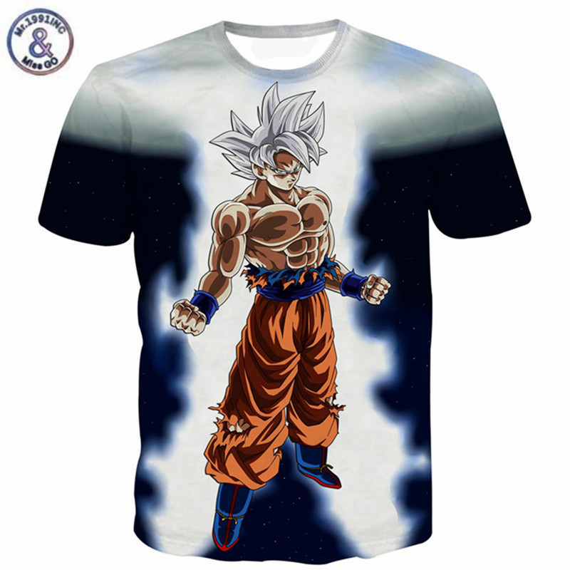 LuckyTshirt T Shirt Goku Dragon Ball Z Saiyan Top Gym Mens