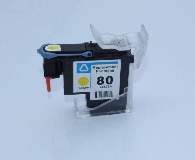 1 pièces reconditionnées pour HP 80 tête dimpression pour C4823A pour HP Designjet 1050c 1050c Plus 1055cm imprimante jaune