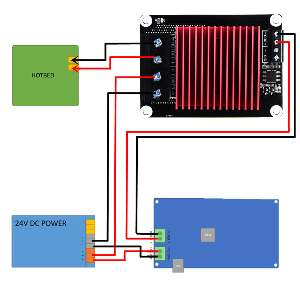 medium resolution of 3d printer parts heating controller mks mosfet for heat bed extruder mos module exceed