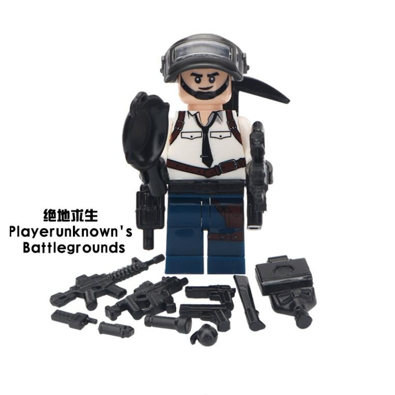 50Pcs Game PUBG Winner Chicken Dinner Action Figure Military Soldiers Weapon Legoed Building Blocks Children Gift Toys MG103950Pcs Game PUBG Winner Chicken Dinner Action Figure Military Soldiers Weapon Legoed Building Blocks Children Gift Toys MG1039